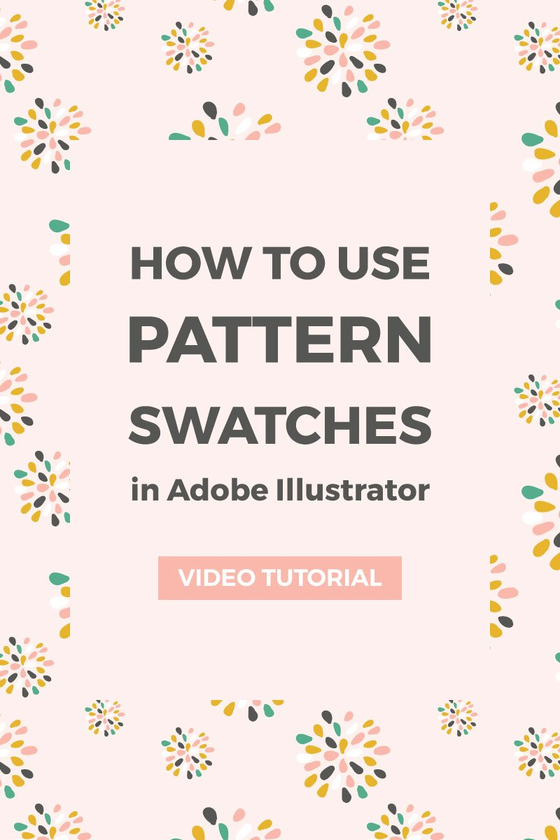 How to install and use pattern swatches in Illustrator