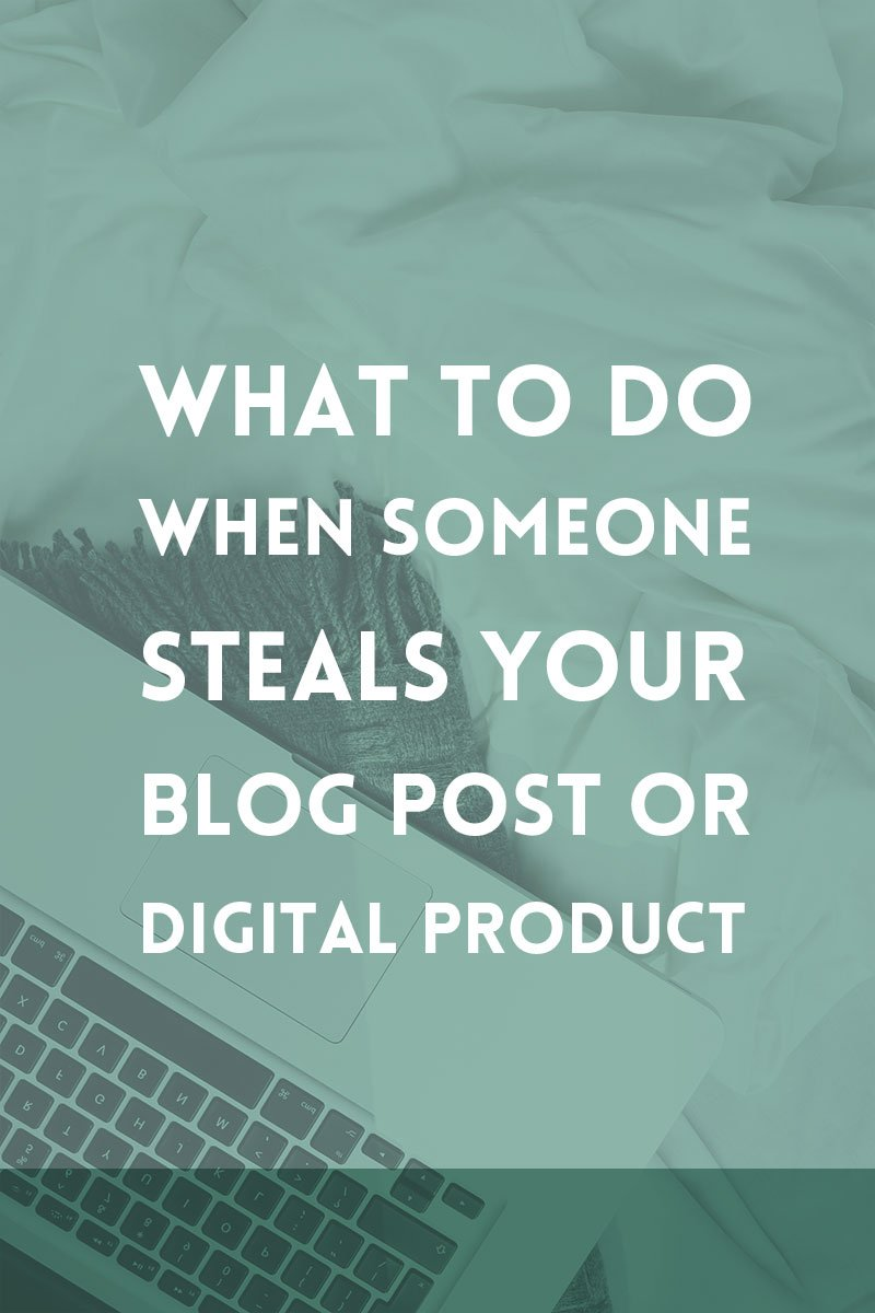 What to do when someone steals your work