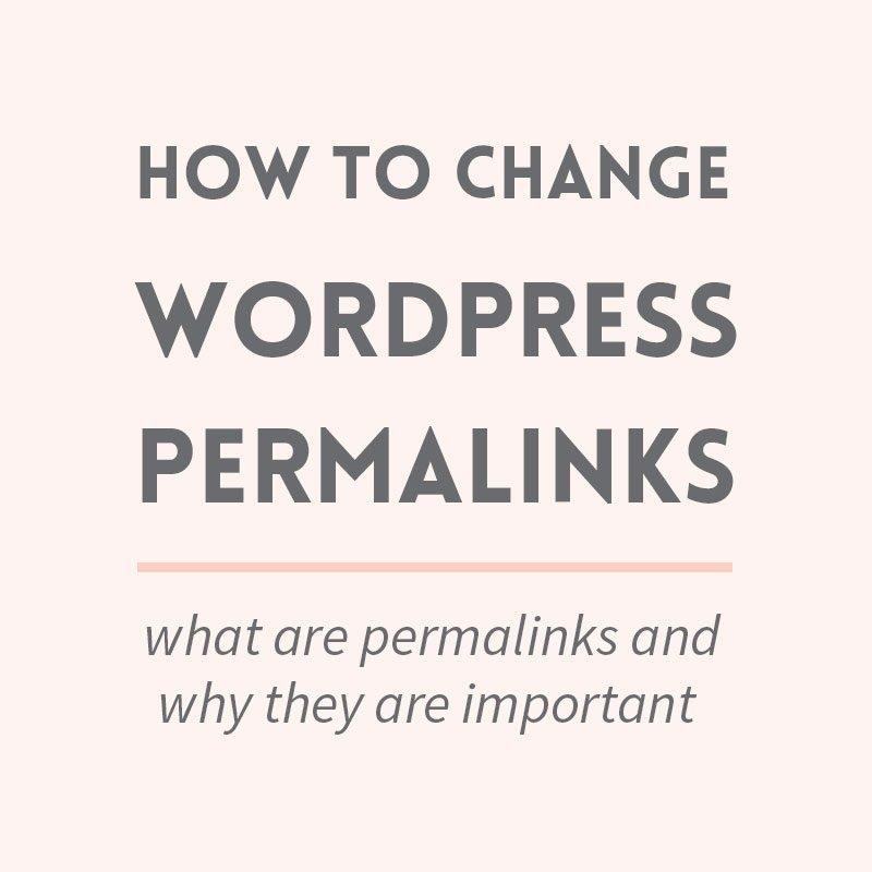How to change WordPress permalinks
