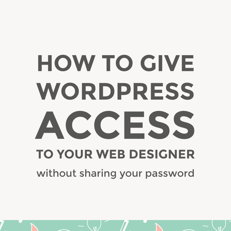 Give WordPress access to your web designer / featured image