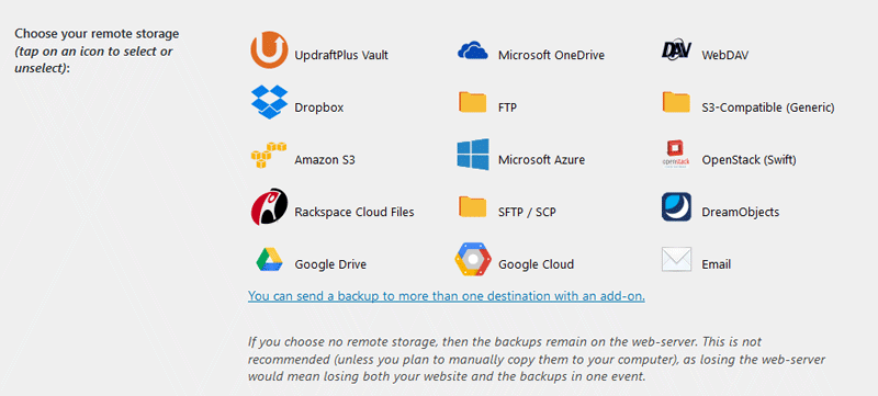 How to connect UpdraftPlus with Google Drive