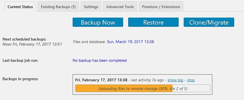 Scheduled backup