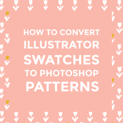 how to make a pattern on a font illustrator
