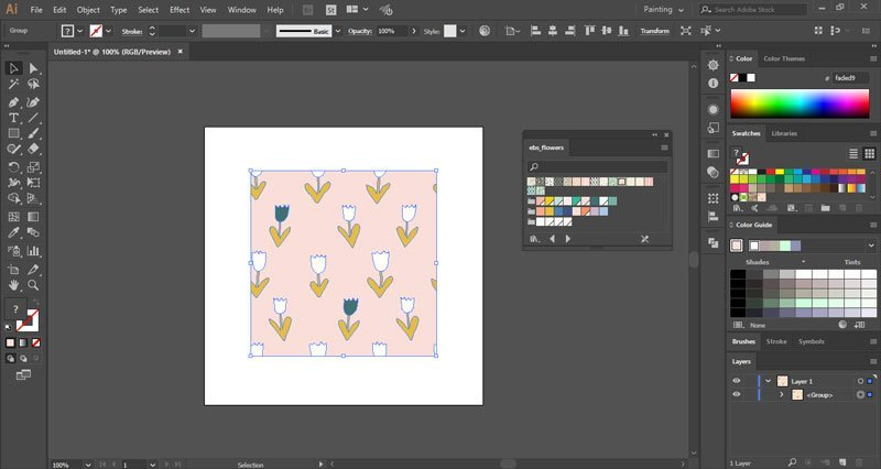 How to convert Illustrator swatches to Photoshop patterns