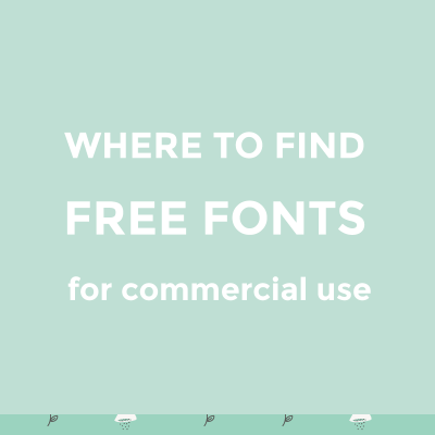 Where to find free fonts for commercial use