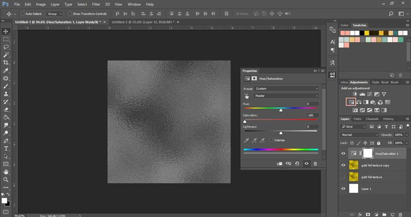 How to create a gold foil texture in Photoshop