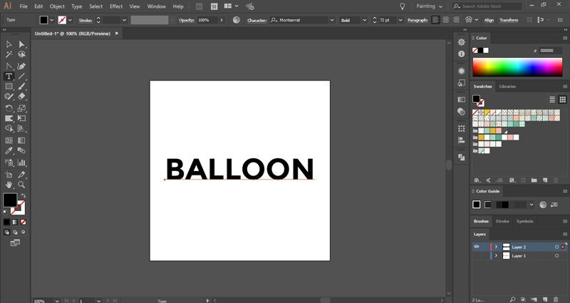 How to make a cute balloon text effect in Illustrator ~ Elan