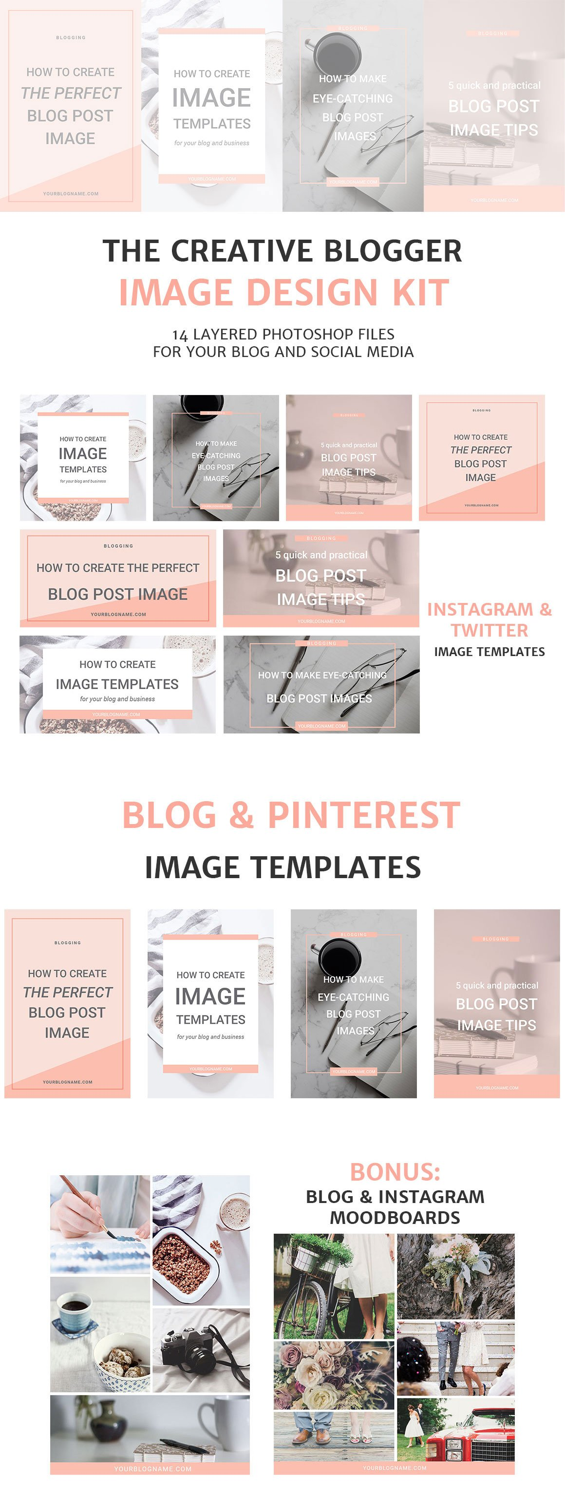 Blog post and social media image templates