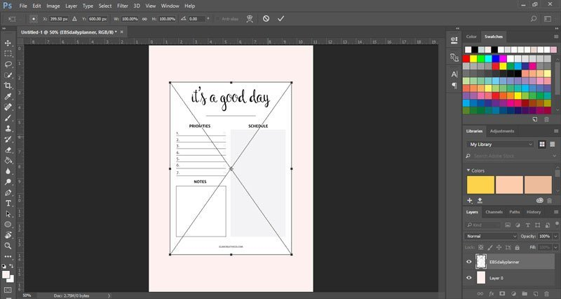 How to make mockups for your printables in Photoshop