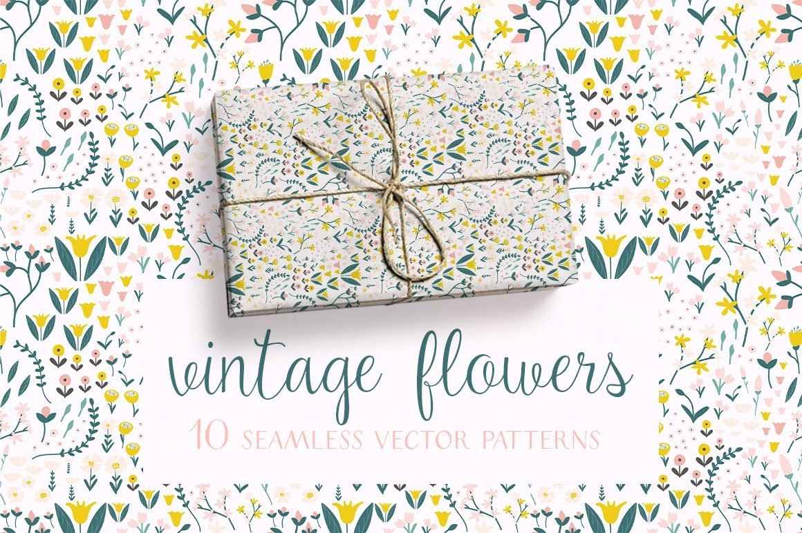 Vintage Flowers Pattern Collection