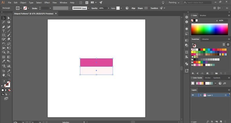 How to make horizontal striped patterns in Illustrator