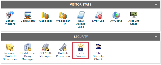 Let's Encrypt - cPanel