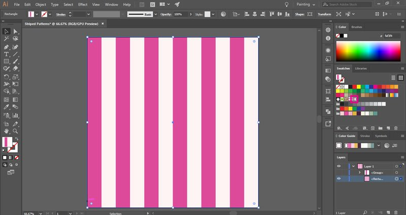 How to make vertical striped patterns in Illustrator