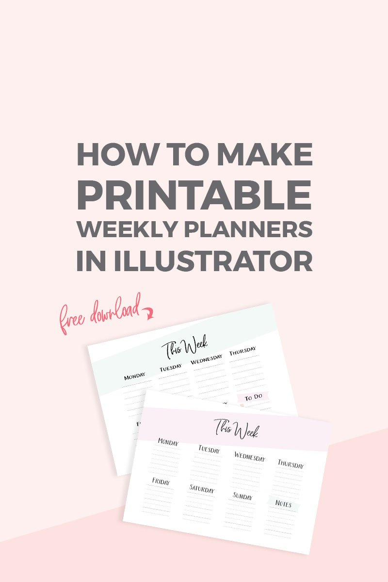 image regarding How to Create a Printable known as How towards produce a printable weekly planner inside Illustrator ~ Elan