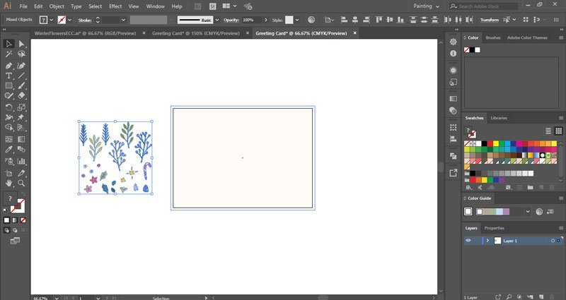 How to make a winter holiday greeting card in Illustrator