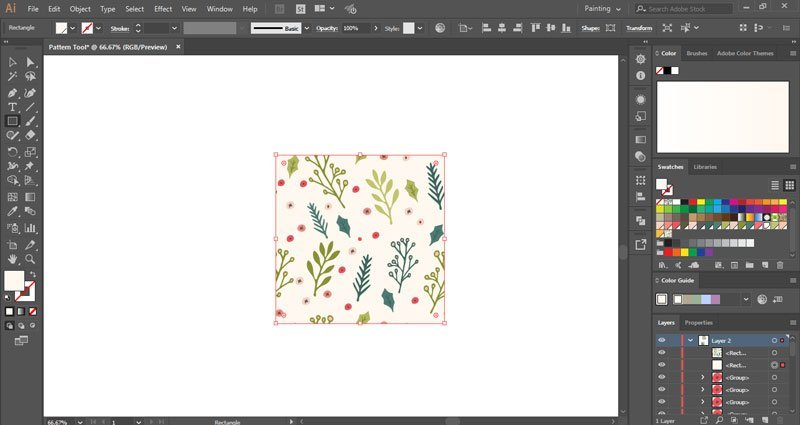 How to make seamless patterns using the pattern tool in Illustrator