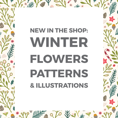 New: Winter Flowers Christmas Patterns