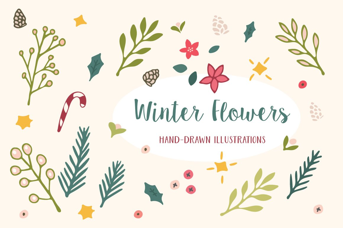 Winter Flowers Christmas Patterns