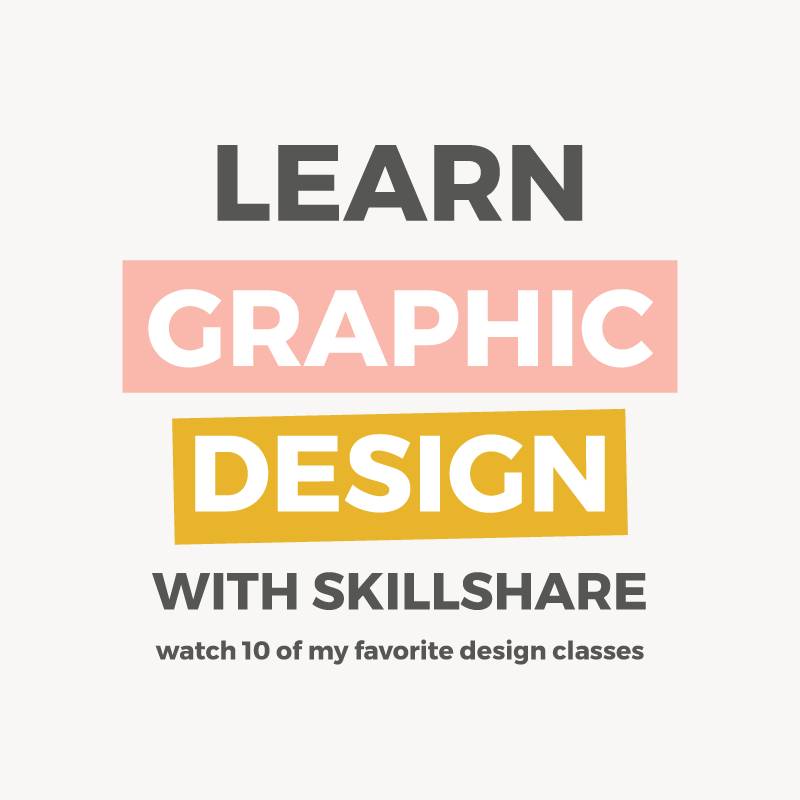 Learn graphic design with Skillshare