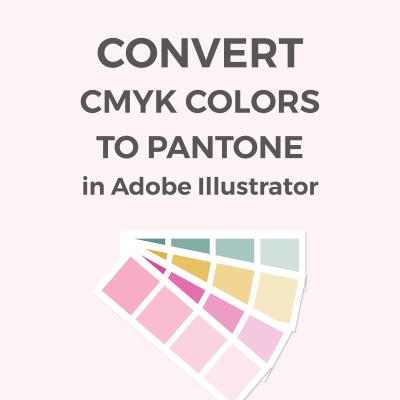 Comvert RGB / CMYK colors to Pantone in Illustrator