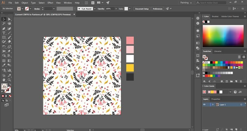 Convert RGB / CMYK colors to Pantone in Illustrator ~ Elan