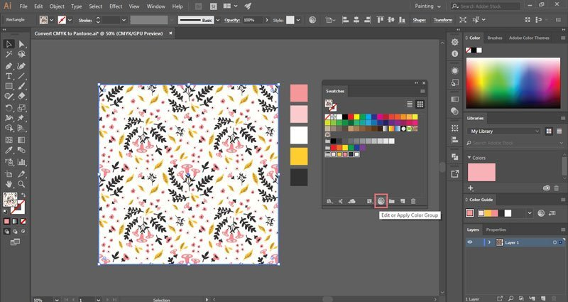 Convert RGB / CMYK colors to Pantone in Illustrator