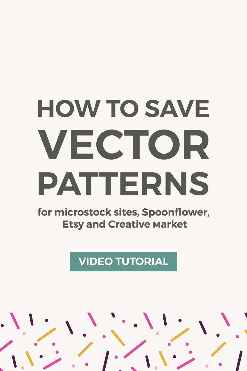 How to save patterns in Illustrator