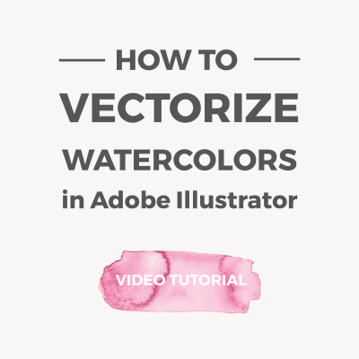 How to vectorize watercolors in Illustrator