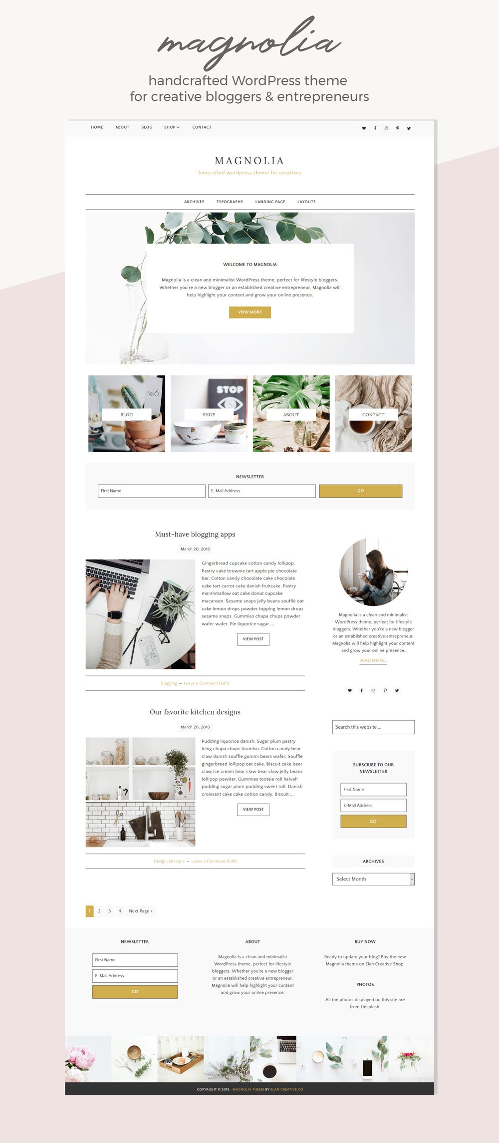 Magnolia Premade WordPress Theme