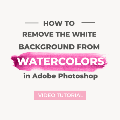 Remove the white background from watercolors in Photoshop