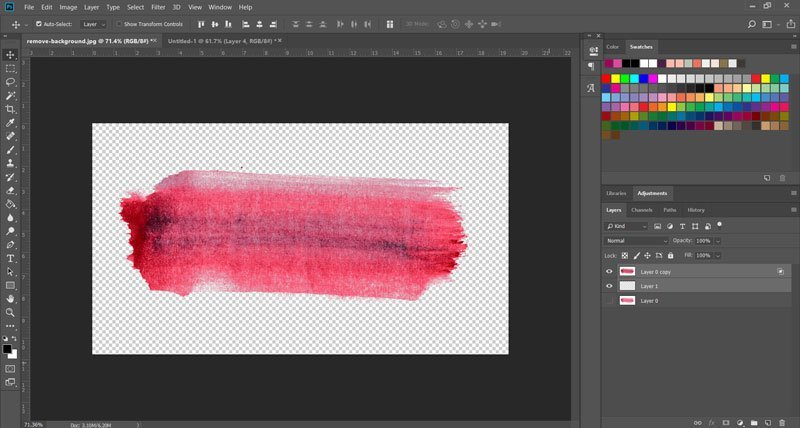 How to remove the white background from watercolors in Photoshop