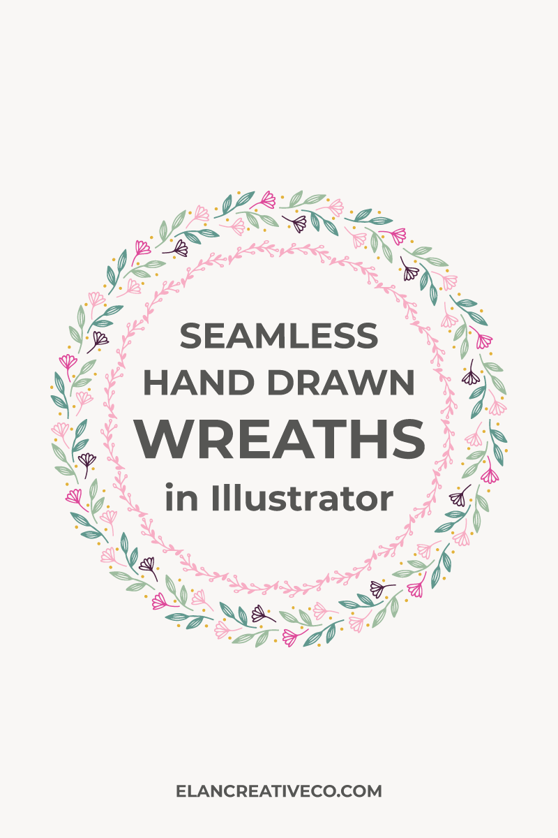 How to make seamless floral wreaths in Illustrator