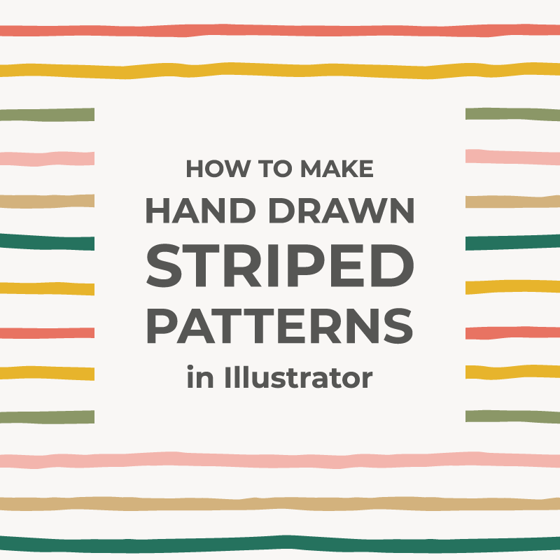 Hand-drawn striped patterns in Illustrator