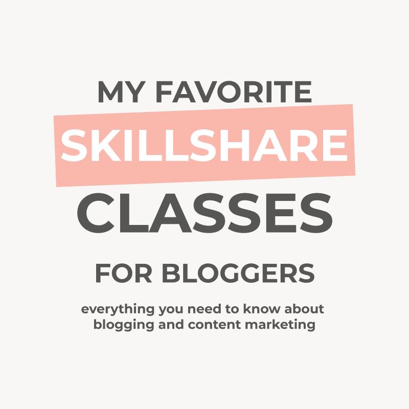 10 Skillshare classes for bloggers