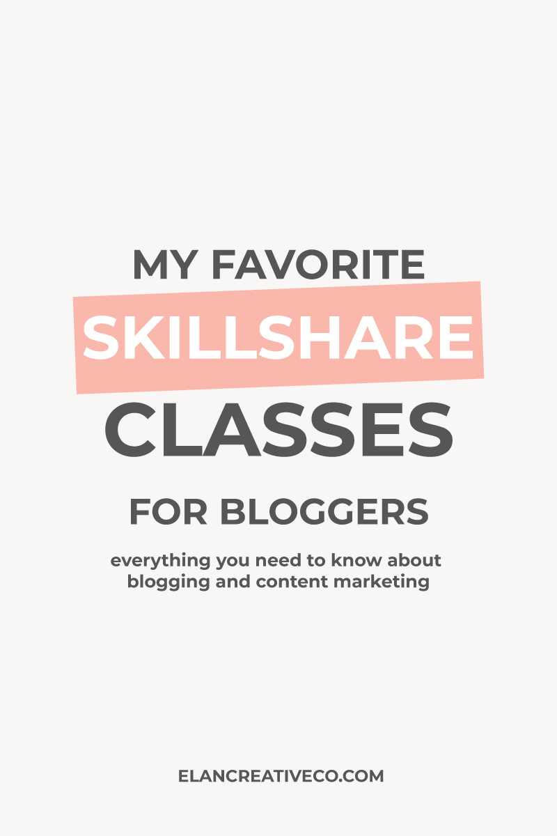 10 Skillshare classes for bloggers