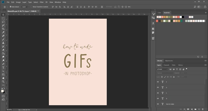 How to make animated GIFs in Photoshop ~ Elan Creative Co