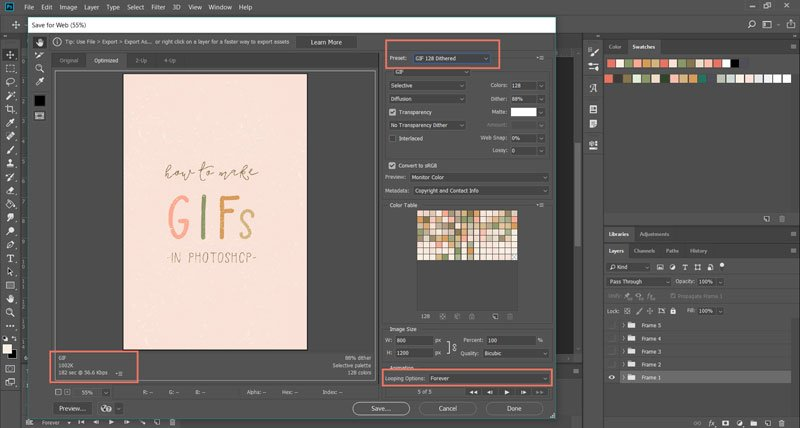 animated GIFs in Photoshop