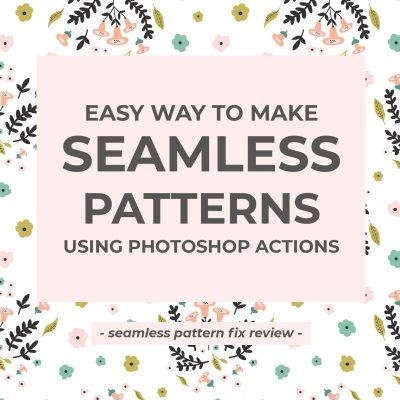 Make seamless patterns using Photoshop actions