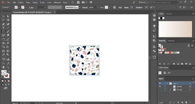 How to make terrazzo patterns in Illustrator