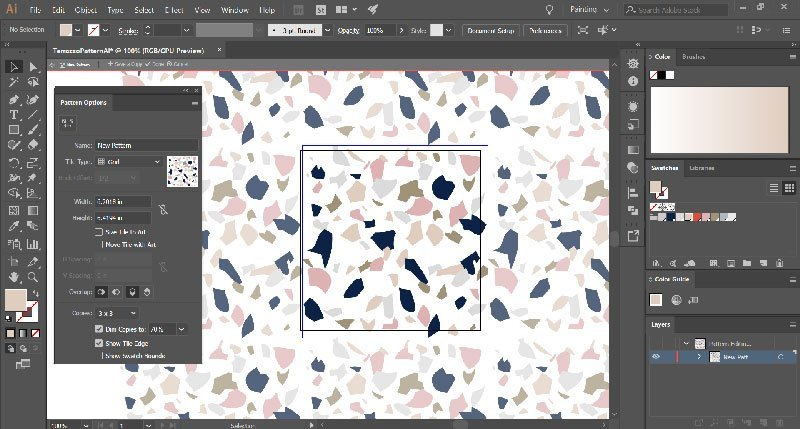 0ca7cab9b The first thing I like to do is change the Width and Height of the pattern  to the Width and Height of the artboard (6x6in). You can use any size you  like, ...