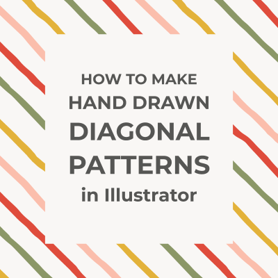 Seamless hand-drawn diagonal patterns in Illustrator