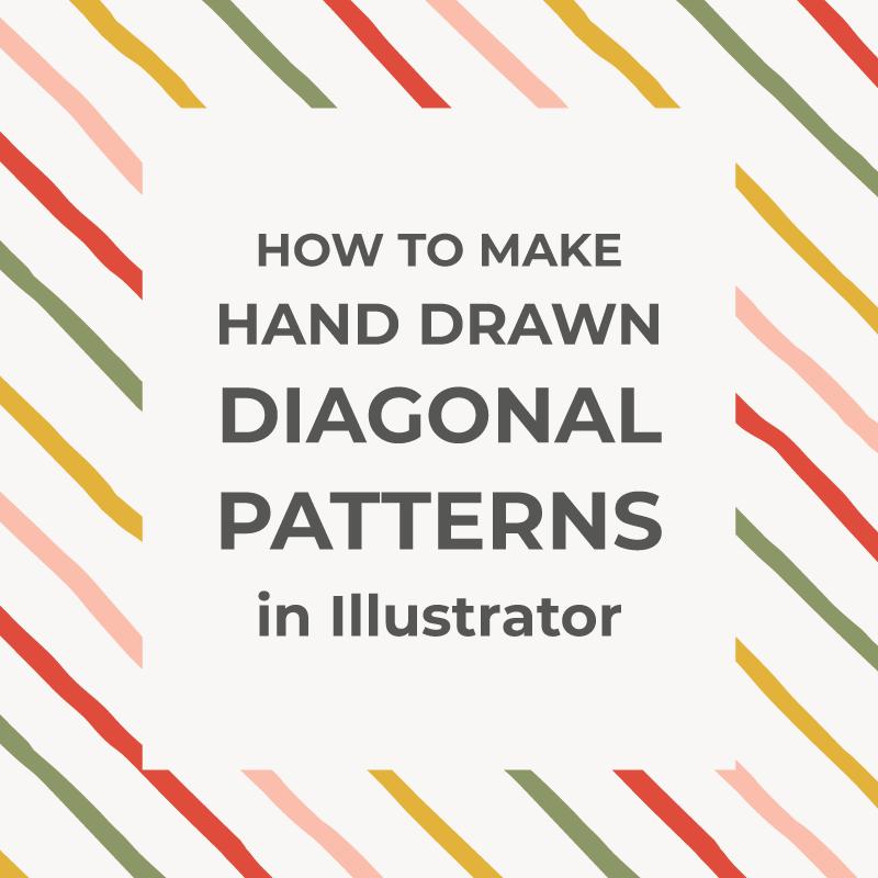 Seamless hand-drawn diagonal patterns in Illustrator