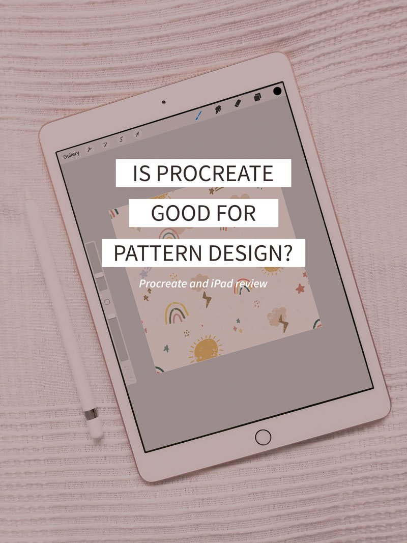 Is procreate good for pattern design? Procreate and iPad review for surface pattern designers.